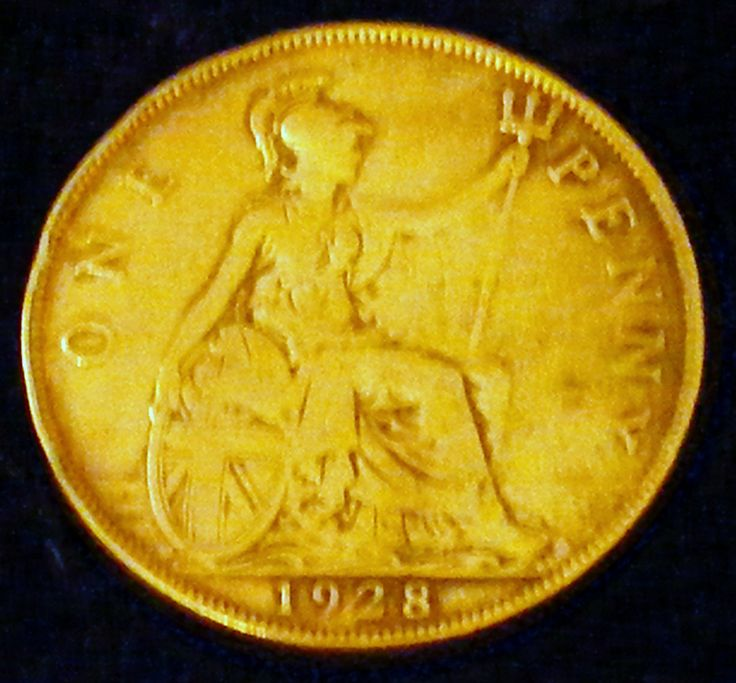 """GREAT INVESTMENT . . . 1928 Large """"One Penny"""" from Great Britain by TheCraftBlossom on Etsy"""