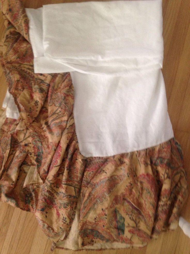 Ralph Lauren Tropical Coco Palm Cal King print bedskirt dust ruffle NEw  | eBay