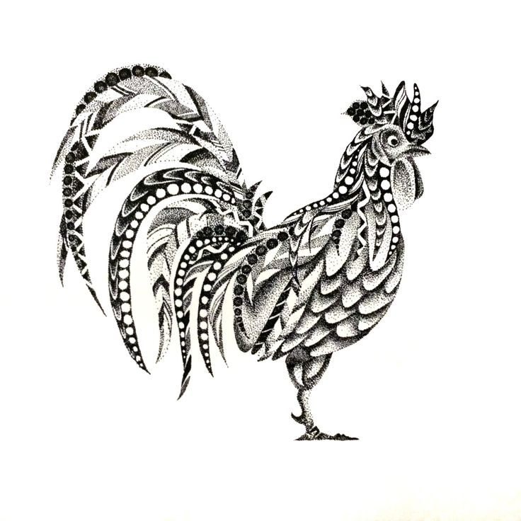 POINTILLISM rooster print by StudioAmyLynn on Etsy https://www.etsy.com/listing/262731212/pointillism-rooster-print