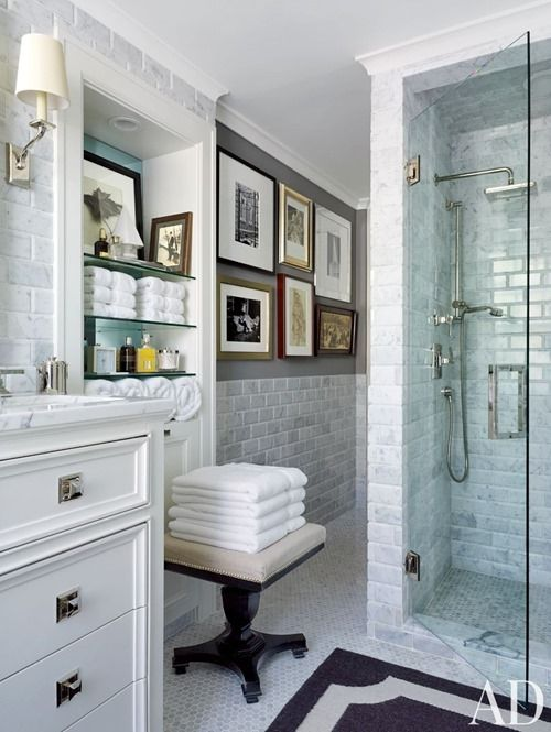 20 best images about bathrooms on pinterest slate tiles for Architectural digest bathroom ideas