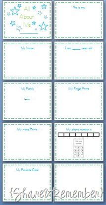 Printable All About Me Book - Preschool