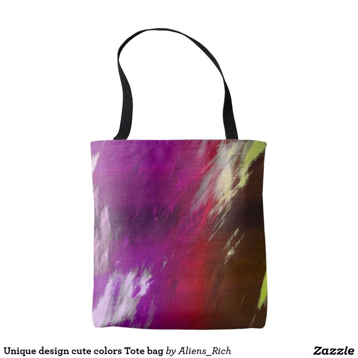 "Unique design cute colors Tote #bag Dimensions: 16""l x 16""w; Strap: 28""l  Material:  - Exterior:100% sturdy brushed polyester  - Interior:100% polyester nonwoven laminate"