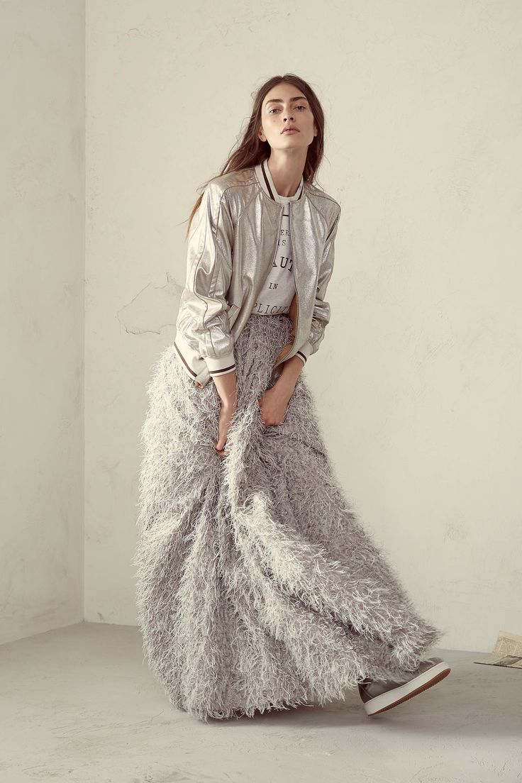Try a different type of prom look! Brunello Cucinelli Spring 2017 Ready-to-Wear collection.