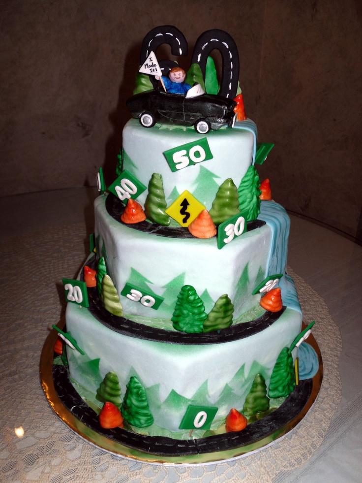 50th Birthday Corvette Cake My Fondant Cake Designs