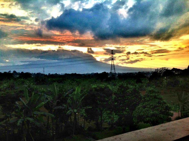 Sunset in Indonesia.. West Java - salak mountain..