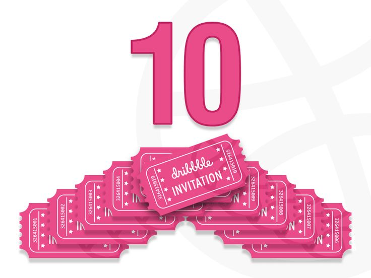10 dribbble invitation to giveaway
