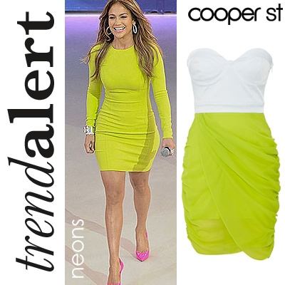 #NEON the trend of the summer - try your #CooperSt style al a #JLO