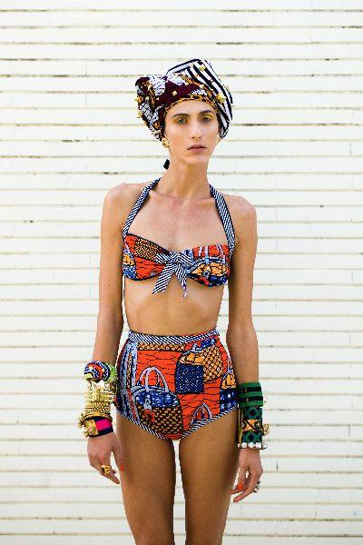 African Prints in Fashion: Beautiful but Weird: Stella Jean Swimwear 2013