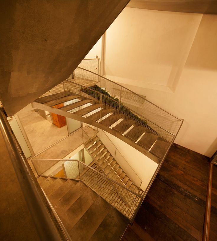 Linghao Architects: House 11Bridges Som Straight, Architects, 11 Stairs, Dreams House, Archie Inspiration, Intertwined Staircases, Design Staircases, House 11, Metals Bridges Som