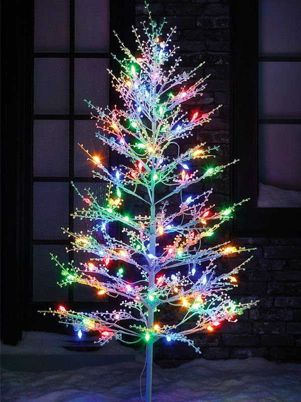 Best 25 led christmas tree ideas on pinterest led christmas light up your lawn with an led christmas tree this white winterberry tree will give sciox Gallery
