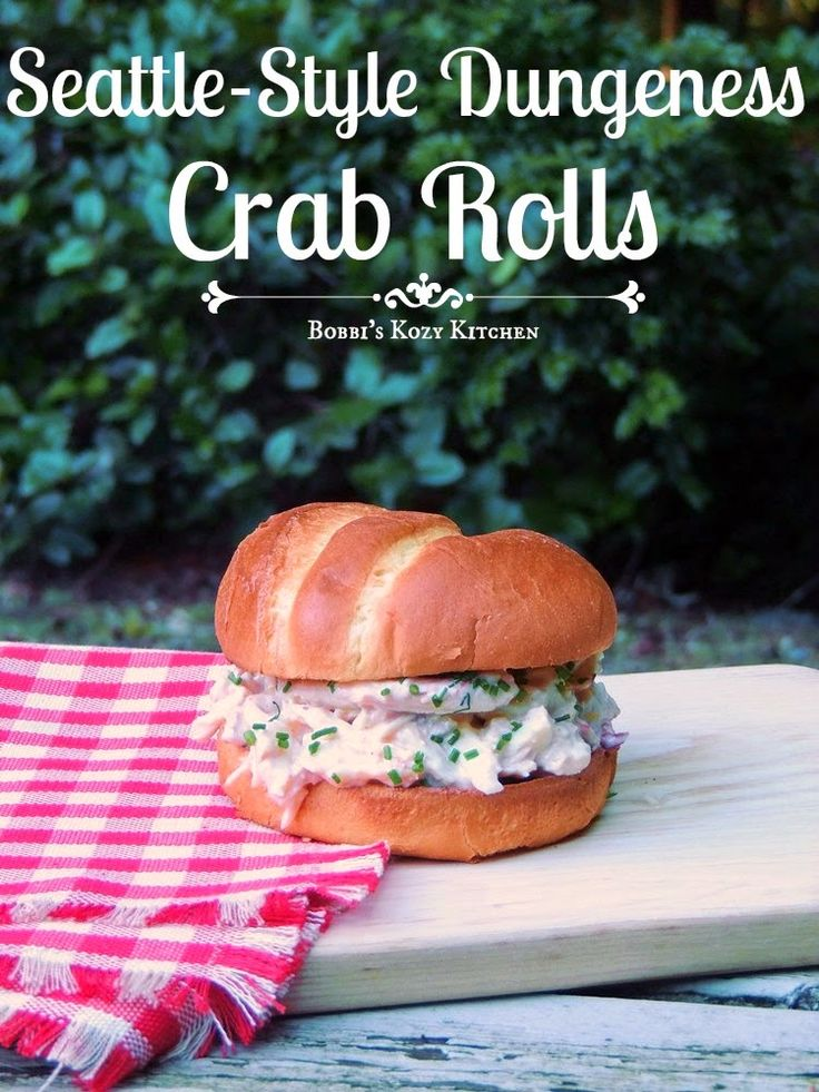 New England has it's lobster rolls, why can't Seattle have it's own roll? Seattle-Style Dungeness Crab Roll #SundaySupper