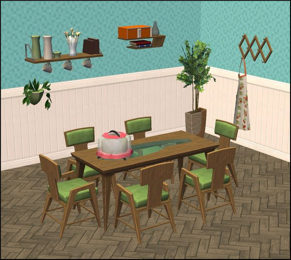 Amovitam's Dream Town - Mid-Century Dining Set S3toS2 conversion