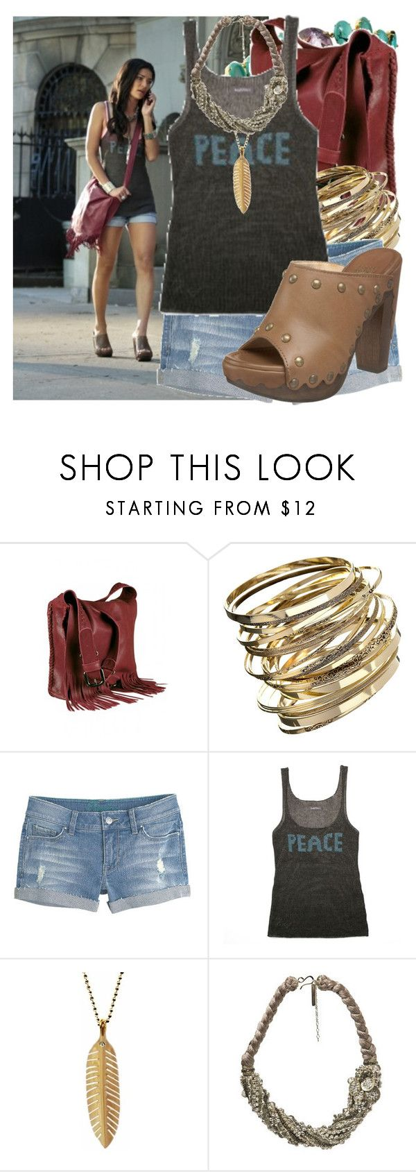 I just wanted to tell him that I'm here if he needs to talk.. I'm his friend and always will be. by valerieking on Polyvore featuring Zadig & Voltaire, Dorothy Perkins, Oscar de la Renta, Ariel Gordon, Stuart Weitzman, Episode, denim shorts, fringe bags, vanessa abrams and clogs