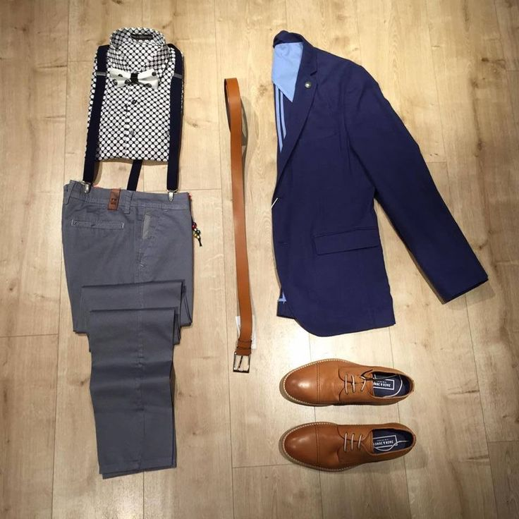 Update your smart-casual style with grey and blue!