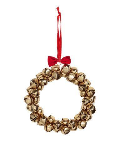 Corona grande con campanas | Dorado | H&M HOME | H&M MX