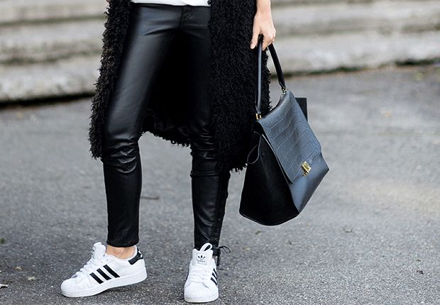 Black and white goes casual.