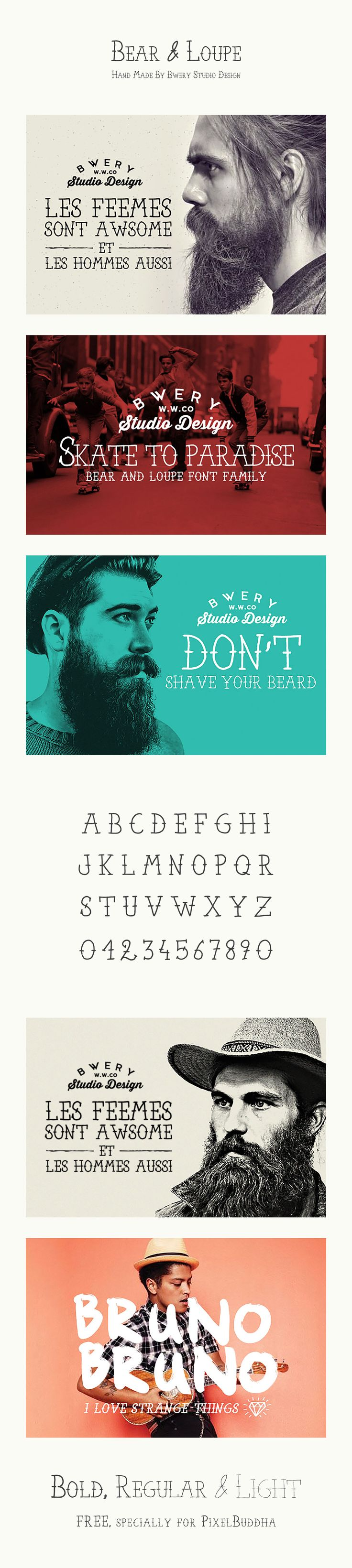 Bear & Loupe Font Family - free fonts