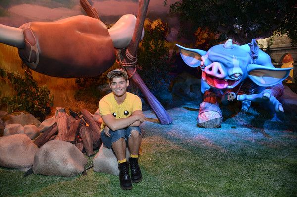 Actor Garrett Clayton visits the Nintendo booth at the 2016 E3 Gaming Convention at Los Angeles Convention Center on June 16, 2016 in Los Angeles, CA