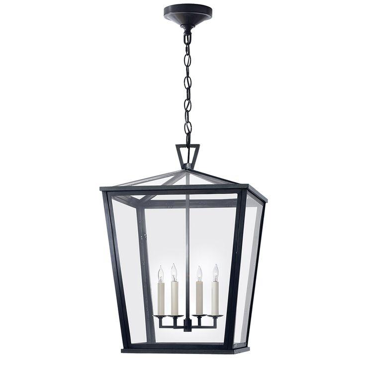 Visual Comfort CHO5085BZ E F Chapman Darlana 4 Light 17 Inch Bronze Outdoor Hanging Lantern