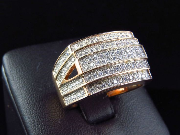 Gold damask ringe