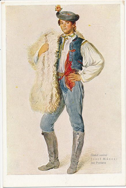 Josef Mánes (1820 - 1871) Studie kroje