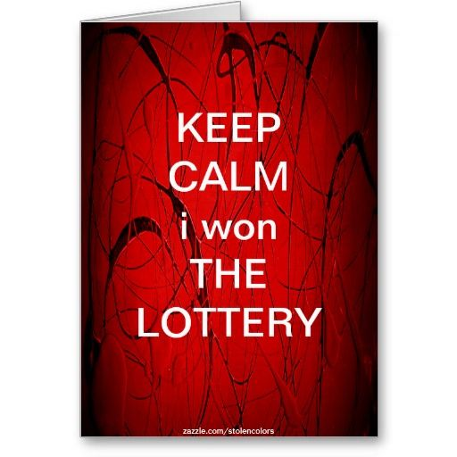 Shipping 3 to Goleta, CA! KEEP CALM i won THE LOTTERY Card