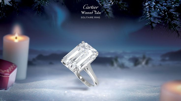 """""""Solitaire ring - by Cartier Platinum, diamond"""" THIS is by far my dream engagement ring. Future fiancé, take note of this. Merci beaucoup ❤️"""