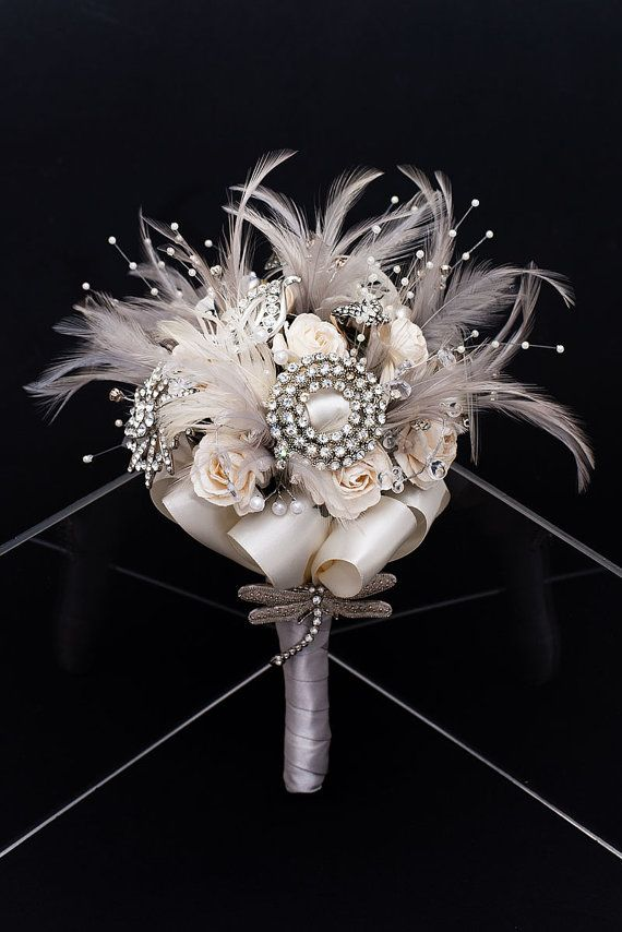 Winter Wonderland Vintage Bridal Bouquet  www.tablescapesbydesign.com https://www.facebook.com/pages/Tablescapes-By-Design/129811416695