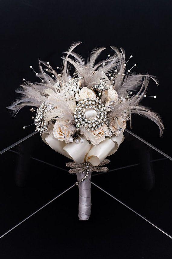 Winter Wonderland Vintage Bridal Bouquet by VintageBridalBouquet, £220.00