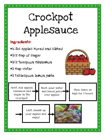 "Making applesauce offers lot of learning opportunities and fun. Discussion of apples and trees, fine motor skills to cut and peel, math skills needed for measuring, science (raw to soft) when heat is applied,nutrition, team and individual work and more! Plus, yummy!  You can also add cherries or other fruit to ""perk it up"".  Teach it With Class: Apples"