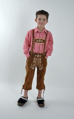 Kinder Trachten Lederhose braun oder olive Kniebundhose Gr 110 bis 176   eBay Julian