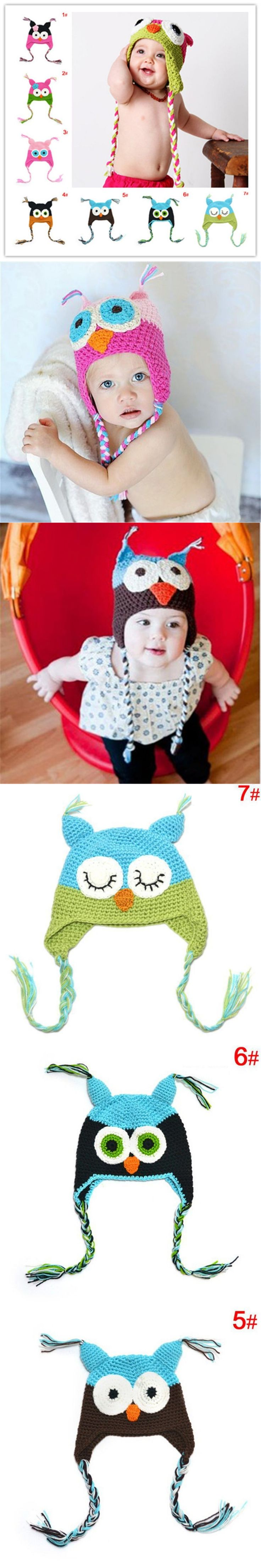 Crochet animal Owl Manual Hat Wool suit Hipster Hat Exclusive Design
