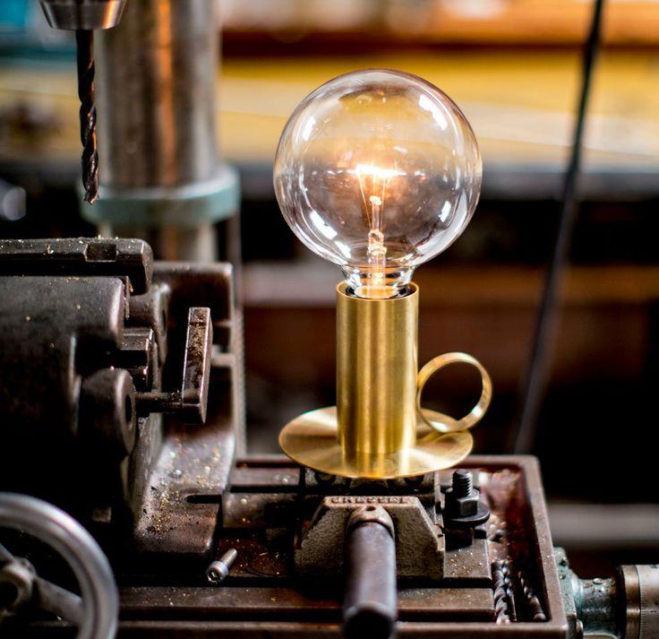 The Nimbus table lamp in brass by Niclas Hoflin for Rubn.