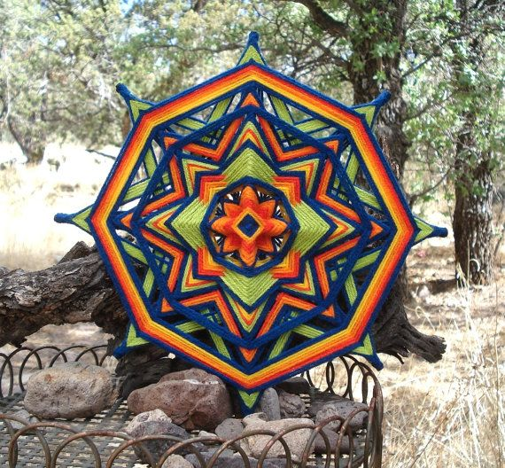 Good Day Sunshine 12 Ojo de Dios Yarn by HighDesertBohemian, $42.00