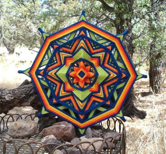 Good Day Sunshine  12 Ojo de Dios  Yarn by HighDesertBohemian, $42.00