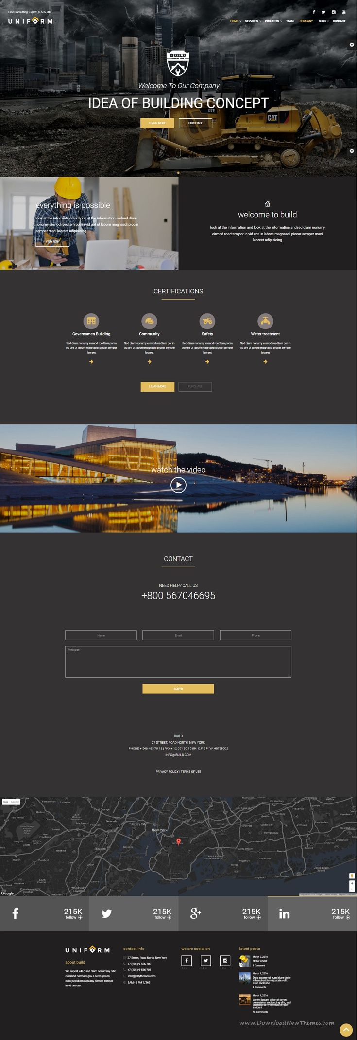 Build is a clean and professional #WordPress theme, perfect for Building, #Construction and any #agency construction.