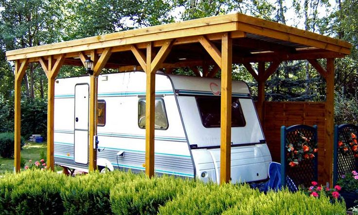 die besten 25 carport wohnmobil ideen auf pinterest. Black Bedroom Furniture Sets. Home Design Ideas