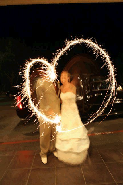 Heart Shaped Wedding Sparklers   Sparklers InCyberspace