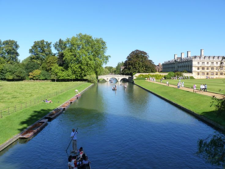 Punting on the river Cam, a relaxing way to see the College Backs choose a chauffeured punt or for the more adventurous have a go yourself.