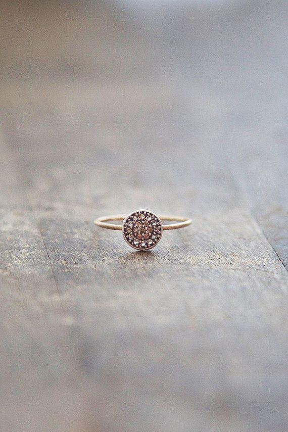14 k or anneau anneau d'empilement mince or et par AmuletteJewelry