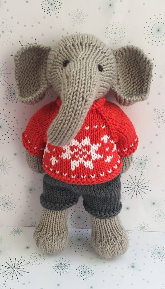 Excited to share the latest addition to my #etsy shop: Knitted Elephant