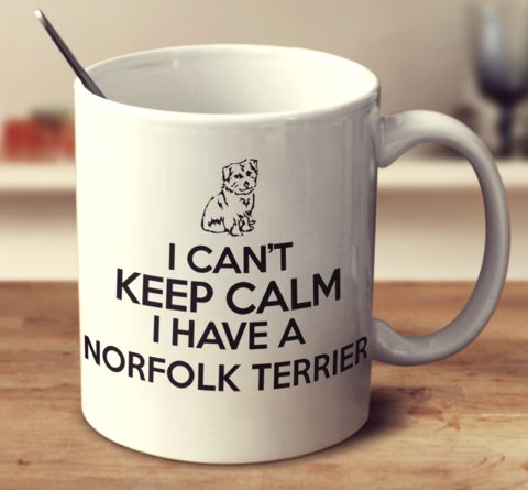 I CAN'T KEEP CALM I HAVE A NORFOLK TERRIER