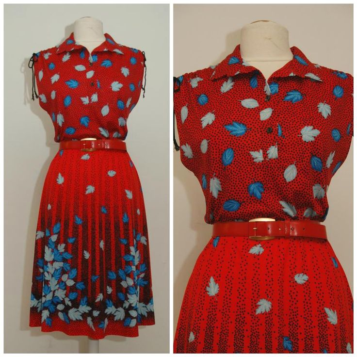 vintage 80s dress/eighties sleeveless red and blue patterned dress/size M at etsy.com/shop/pompadourandvintage #fashion #vintagefashion #vintage #vintagewear #womenwear #fashionista #vintagefashionista #pompadourandvintage #pompadour #fashionblogger #beautiful #style #beauty #stunning #gorgeous #clothes #vintageclothes #amazing #cool #whatiwore #whatiwear #shopping #2hands #outfit #mylook #lifestyle #lookoftheday #todaysoutfit #outfitpost #bestoftheday #chic