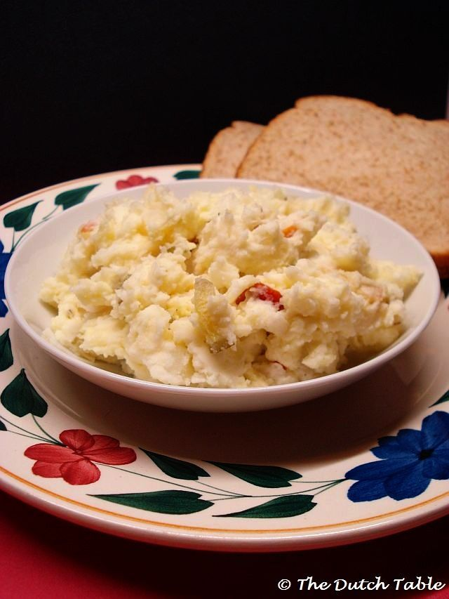Aardappelsalade (Dutch Potato Salad) with dill pickles as well as pickle juice (1) From: The Dutch Table, please visit