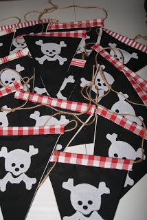 pirate flag bunting