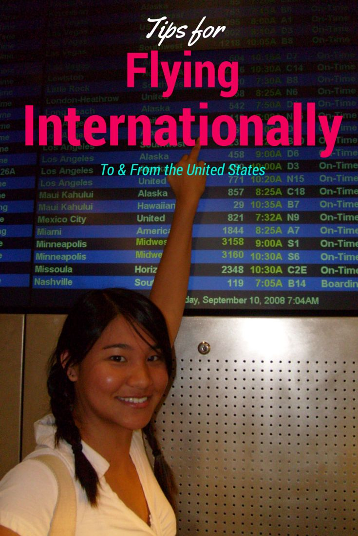 Tips for flying internationally - to and from the US. Going through customs, immigration, security, etc.