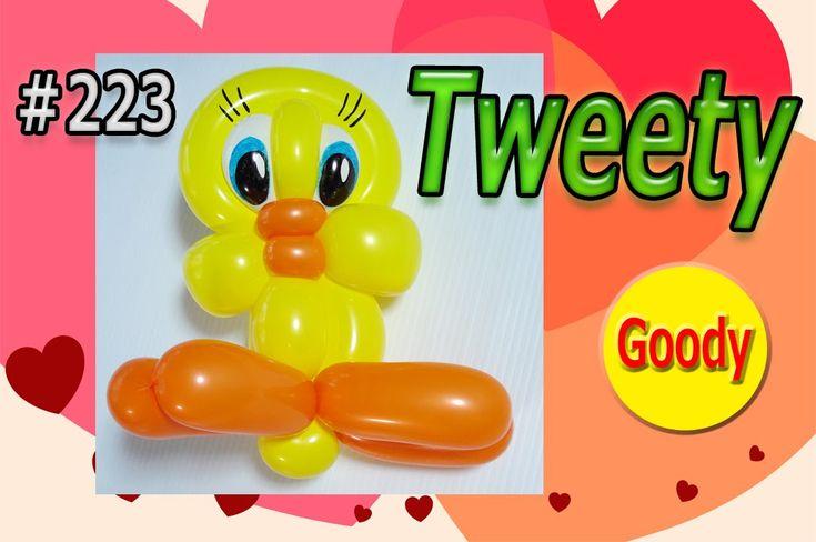 Tweety balloon  トゥイティーを作ろう! 【かねさんのバルーンアート】
