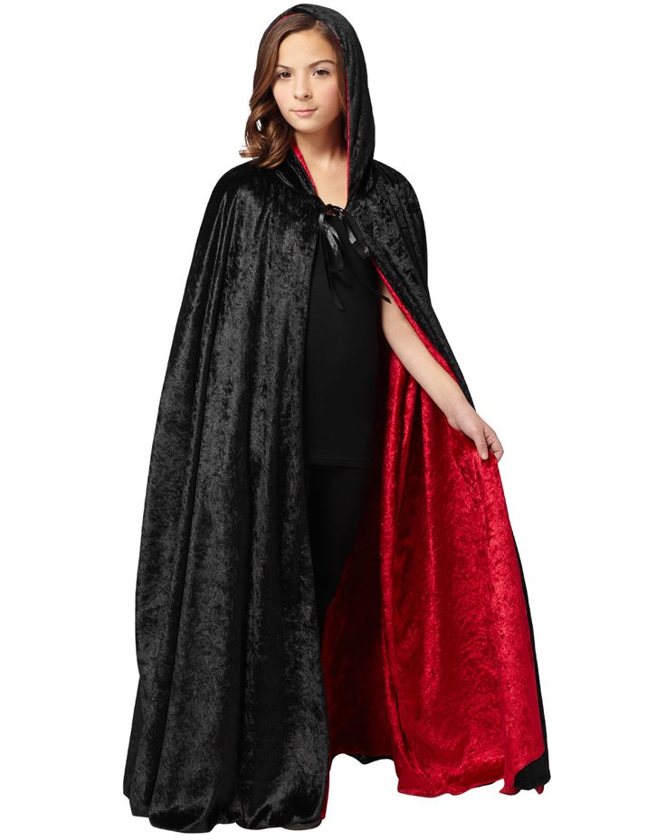 reverse black and red hooded cloak child costume spirit halloween - Spirit Halloween Locations Michigan