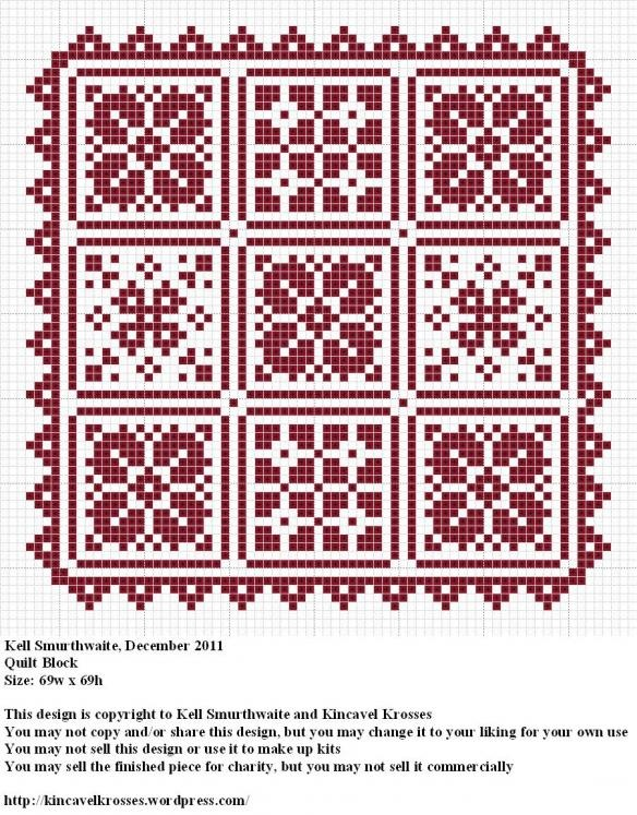 Cross stitch quilted pattern