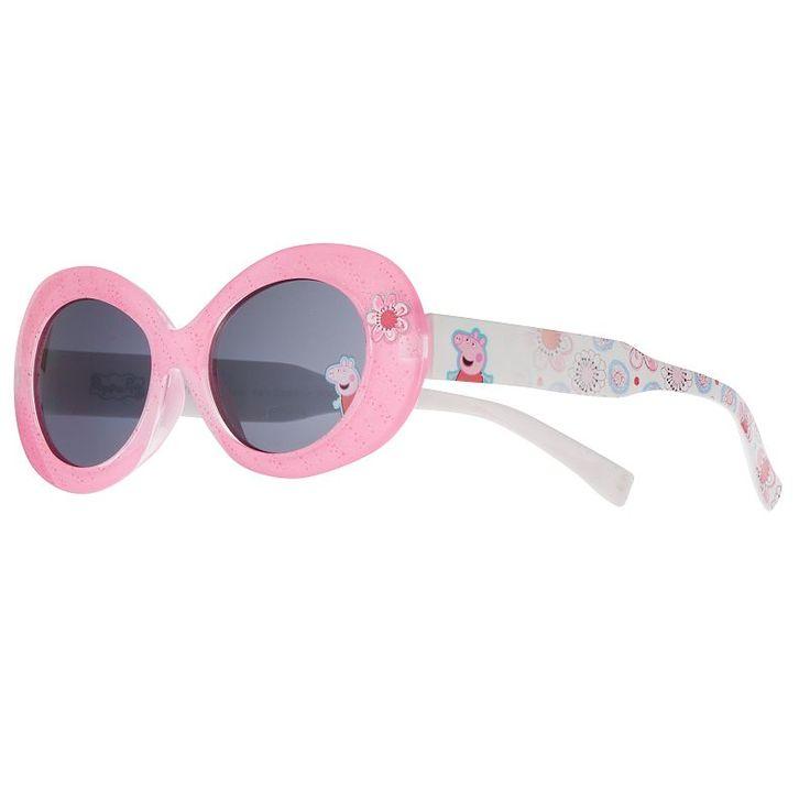 Girls 4-6x Peppa Pig Oval Glitter Sunglasses, Multicolor